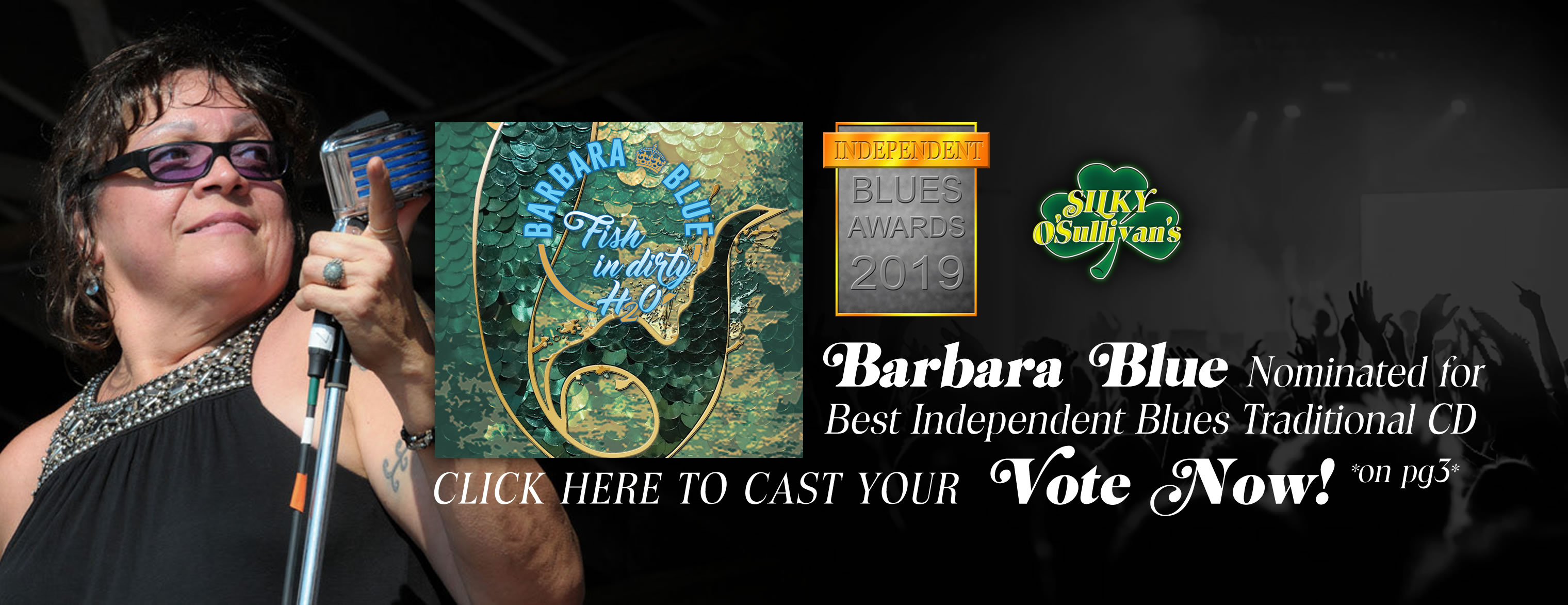 Vote Barbara Blue nominated for Best Independent Blues Traditional CD